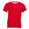 Contrast Ringer T-Shirt in red-with-white