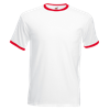 Contrast Ringer T-Shirt in white-with-red