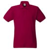 Heavy Pique Polo Shirt in brick-red