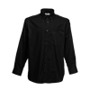 Long Sleeve Oxford Shirt in black