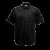 Short Sleeve Poplin Shirt in black