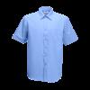 Short Sleeve Poplin Shirt in mid-blue