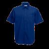 Short Sleeve Poplin Shirt in navy