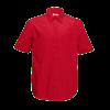 Short Sleeve Poplin Shirt in red