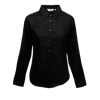 Lady Fit Long Sleeve Oxford Shirt in black