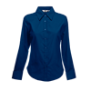 Lady Fit Long Sleeve Oxford Shirt in navy