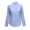 Lady Fit Long Sleeve Oxford Shirt in oxford-blue