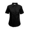 Lady Fit Short Sleeve Poplin Shirt in black