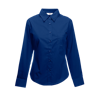 Lady Fit Long Sleeve Poplin Shirt in navy