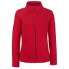 Lady Fit Outdoor Fleece Jacket in red