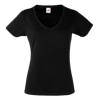 Lady Fit Value V Neck T-Shirt in black