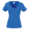 Lady Fit Value V Neck T-Shirt in royal-blue
