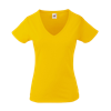 Lady Fit Value V Neck T-Shirt in sunflowers