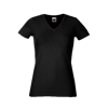 Lady Fit V Neck T-Shirt in black