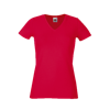 Lady Fit V Neck T-Shirt in red