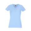 Lady Fit V Neck T-Shirt in sky-blue