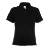 Lady Fit Pique Polo Shirt in black