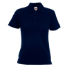 Lady Fit Pique Polo Shirt in deep-navy