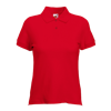 Lady Fit Pique Polo Shirt in red