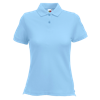 Lady Fit Pique Polo Shirt in sky-blue