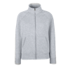 Lady Fit Sweat Jacket in heather-grey