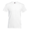 V Neck Value T-Shirt in white