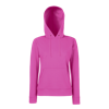 Lady Fit Hooded Sweat in fuchsia