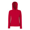 Lady Fit Hooded Sweat in red