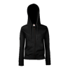 Lady Fit Zip Hooded Jacket in black