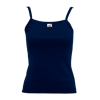 Lady Fit Rib Strap Vest in deep-navy
