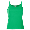 Lady Fit Rib Strap Vest in kelly-green