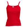 Lady Fit Rib Strap Vest in red