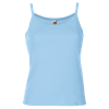 Lady Fit Rib Strap Vest in sky-blue