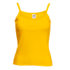 Lady Fit Rib Strap Vest in sunflower