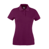 Lady Fit Poly Cotton Pique Polo Shirt in burgundy