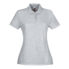 Lady Fit Poly Cotton Pique Polo Shirt in hetaher-grey