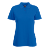 Lady Fit Poly Cotton Pique Polo Shirt in royal-blue