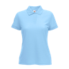 Lady Fit Poly Cotton Pique Polo Shirt in sky-blue