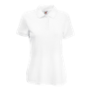 Lady Fit Poly Cotton Pique Polo Shirt in white