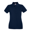 Lady Fit Premium Pique Polo Shirt in deep-navy