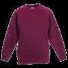Kids Raglan Sweatshirt in burgundy