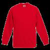 Kids Raglan Sweatshirt in red