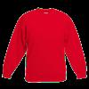 Kids Drop Shoulder Sweatshirt in red