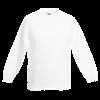 Kids Drop Shoulder Sweatshirt in white