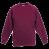 Kids Premium Raglan Sweatshirt in burgundy