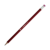 Hb Rubber Tipped Pencils in burgundy