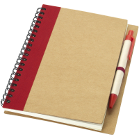 Branded recycled notebook with pen- Priestly