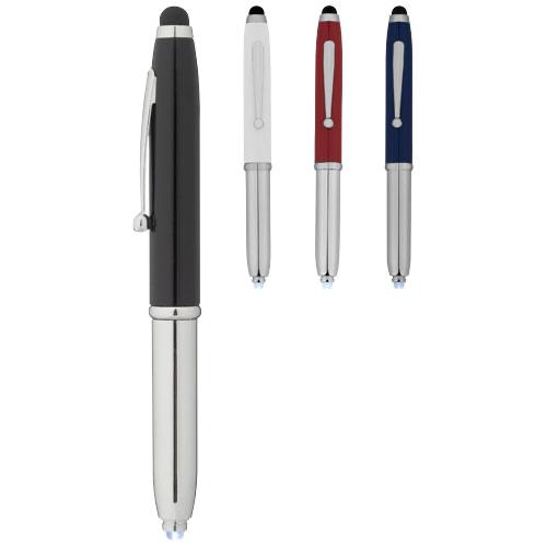 Xenon stylus ballpoint pen with LED light