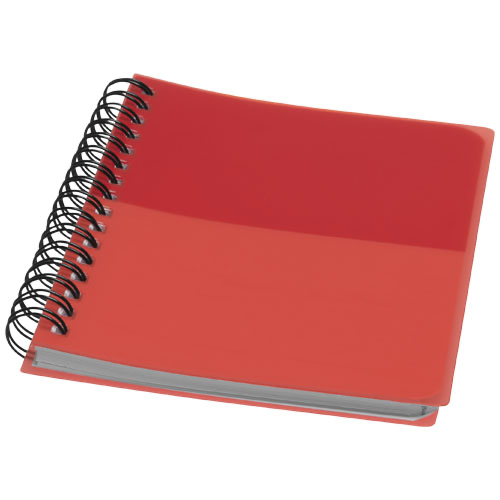 Colour-block A6 spiral notebook