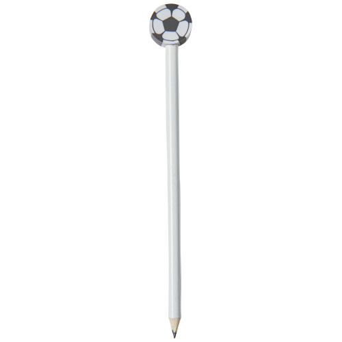 Goal pencil with football-shaped eraser